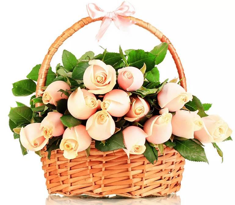 Заказать цветочную корзину