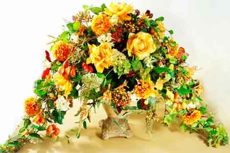 Оформление цветочных корзин