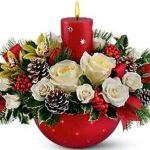 Зимний букет и новогодние цветочные композиции
