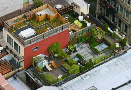 Создание прекрасного сада на крыше