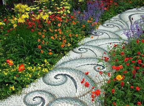 Садовые дорожки в виде мозайки