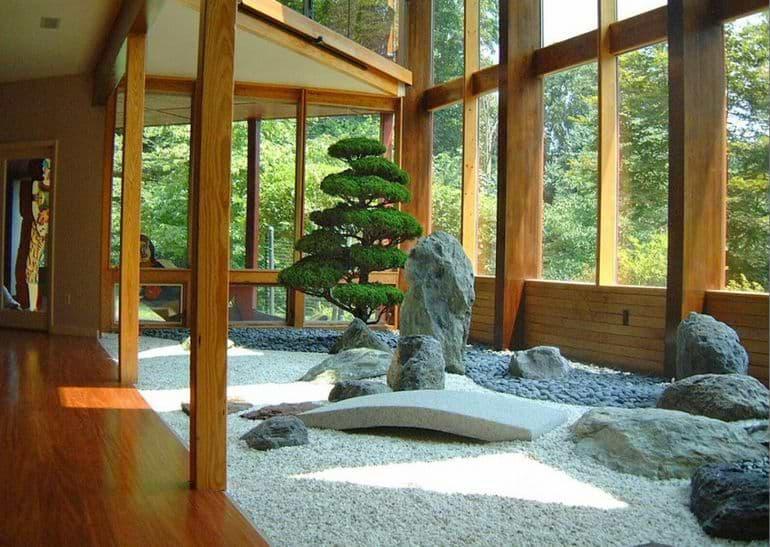 Зимний сад в японском стиле