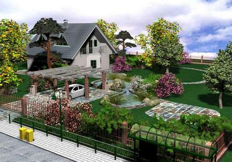 Ландшафтный дизайн участка в Краснодаре