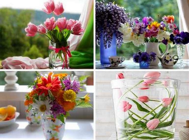 Вода и цветы